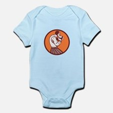 Scotsman Weight Throw Circle Retro Body Suit