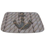 Nautical rope Memory Foam Bathmats