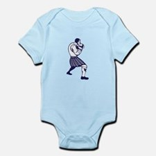 Scotsman Weight Throw Isolated Retro Body Suit