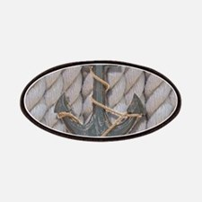 rustic anchor nautical rope Patch