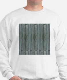 nautical teal beach drift wood Sweatshirt