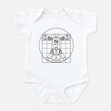Vitruvian robot Infant Bodysuit