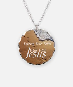 EXPRESS YOUR FAITH WALK WITH Necklace Circle Charm