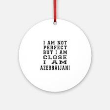 Azerbaijani Designs Round Ornament