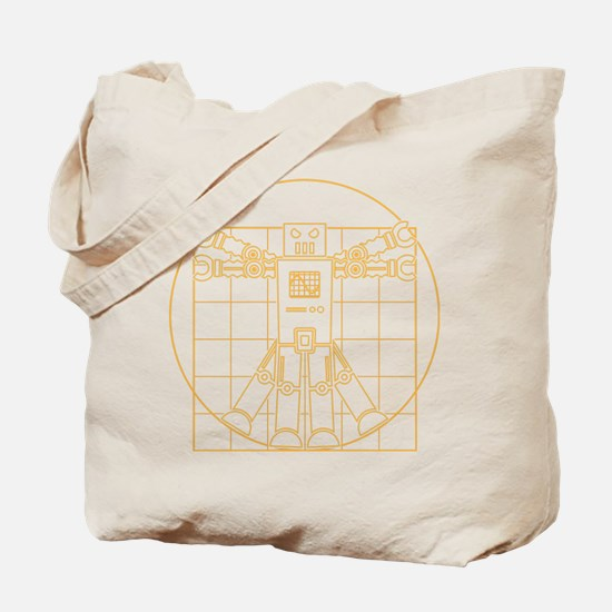 Vitruvian robot Tote Bag
