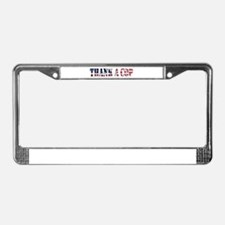 Cute Police License Plate Frame