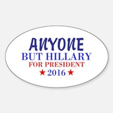 Anyone But Hillary Decal