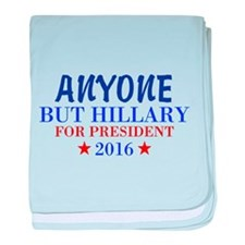 Anyone But Hillary baby blanket