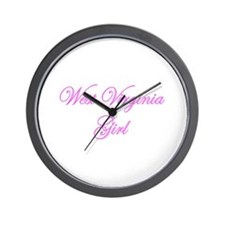 West Virginia Girl Wall Clock