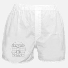 Vitruvian robot Boxer Shorts