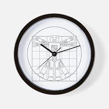 Vitruvian robot Wall Clock