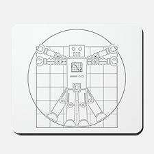 Vitruvian robot Mousepad