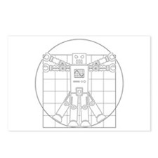 Vitruvian robot Postcards (Package of 8)