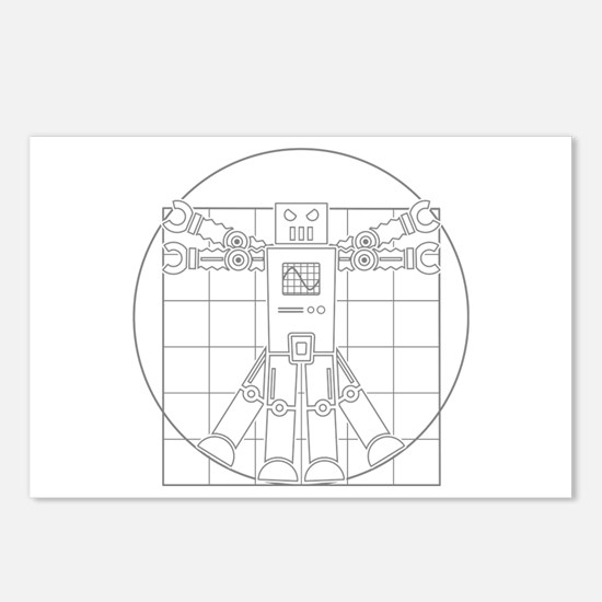 Vitruvian robot Postcards (Package of 8)