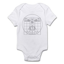 Vitruvian robot Infant Bodysuit