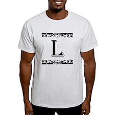 Roman Style Letter L T-Shirt