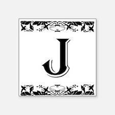 Roman Style Letter J Sticker