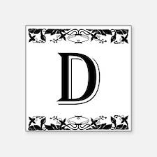 Roman Style Letter D Sticker