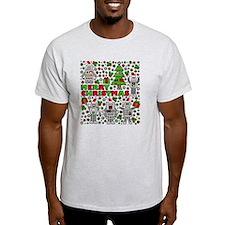Merry Christmas Robots T-Shirt