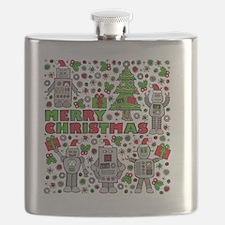 Merry Christmas Robots Flask