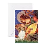 Mandolin Angel & Papillon Greeting Cards (Pk of 20