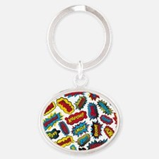 Super Words! Oval Keychain