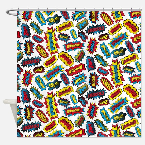 Super Words! Shower Curtain