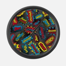 Super Words! Large Wall Clock