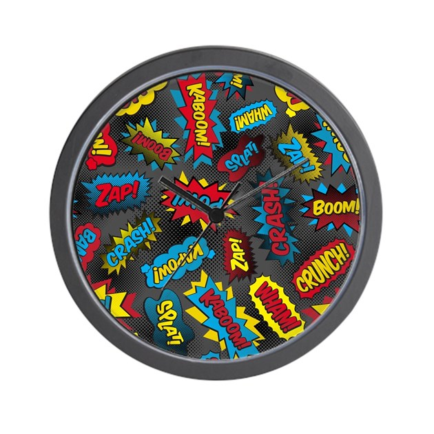 Super Words! Wall Clock by listing-store-2870135