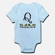 Letter Q Sunflowers Body Suit
