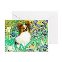 Irises / Papillon Greeting Cards (Pk of 20)