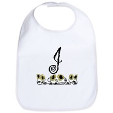 Letter J Sunflowers Bib