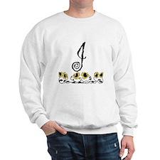 Letter J Sunflowers Sweatshirt