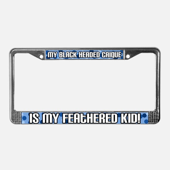 Black Headed Caique Fid License Plate Frame