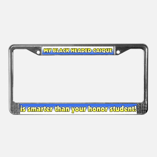 Hnr Studnt Black Headed Caique License Plate Frame