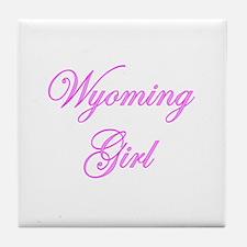 Wyoming Girl Tile Coaster