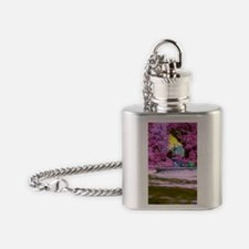 FANTASY OF A PINK PARK Flask Necklace