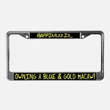 HI Owning Blue & Gold Macaw License Plate Frame