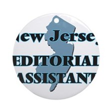 New Jersey Editorial Assistant Round Ornament