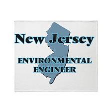 New Jersey Environmental Engineer Throw Blanket