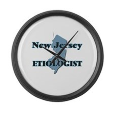 New Jersey Etiologist Large Wall Clock