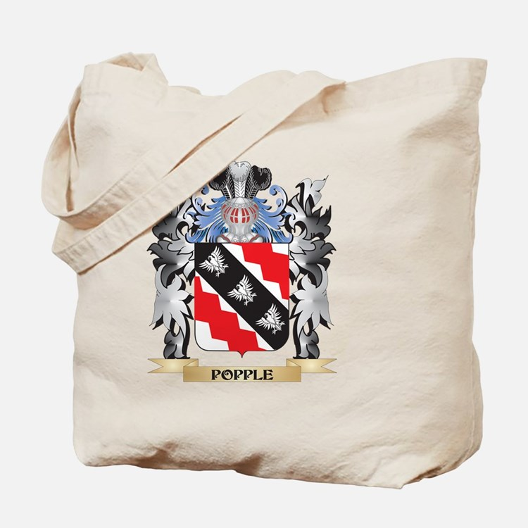 Popple Coat of Arms - Family Crest Tote Bag