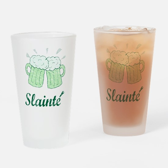 Slainte Beer Mugs Drinking Glass