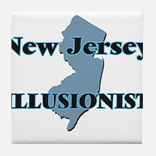 New Jersey Illusionist Tile Coaster