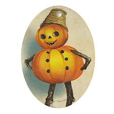 TLK007 Halloween Pumpkin Man Oval Ornament