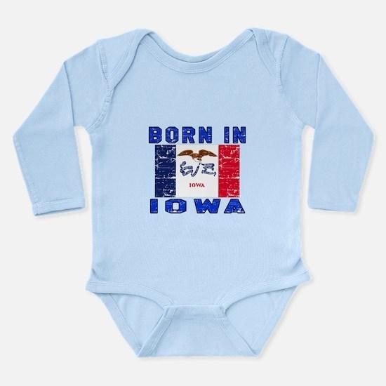 Born in Iowa Long Sleeve Infant Bodysuit