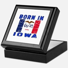 Born in Iowa Keepsake Box