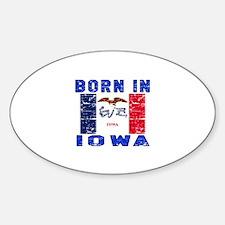 Born in Iowa Sticker (Oval)