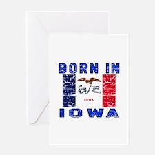 Born in Iowa Greeting Card