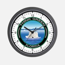 Environmental Polar Bear Florida Wall Clock